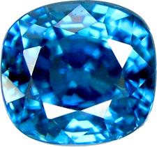 Blue Cambodian zircon stone.
