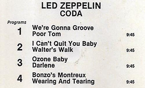 Led Zeppelin 8-track tapes improve the original LP song orders